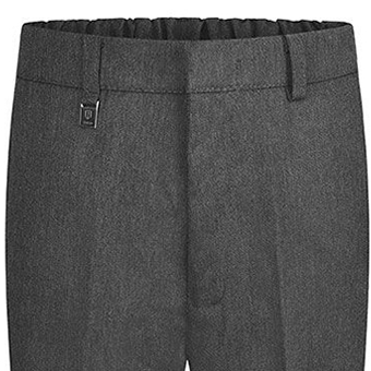 boys school trousers pocket view grey