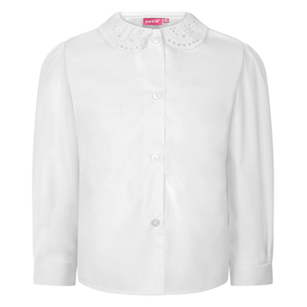 zeco school shirt with lace collar
